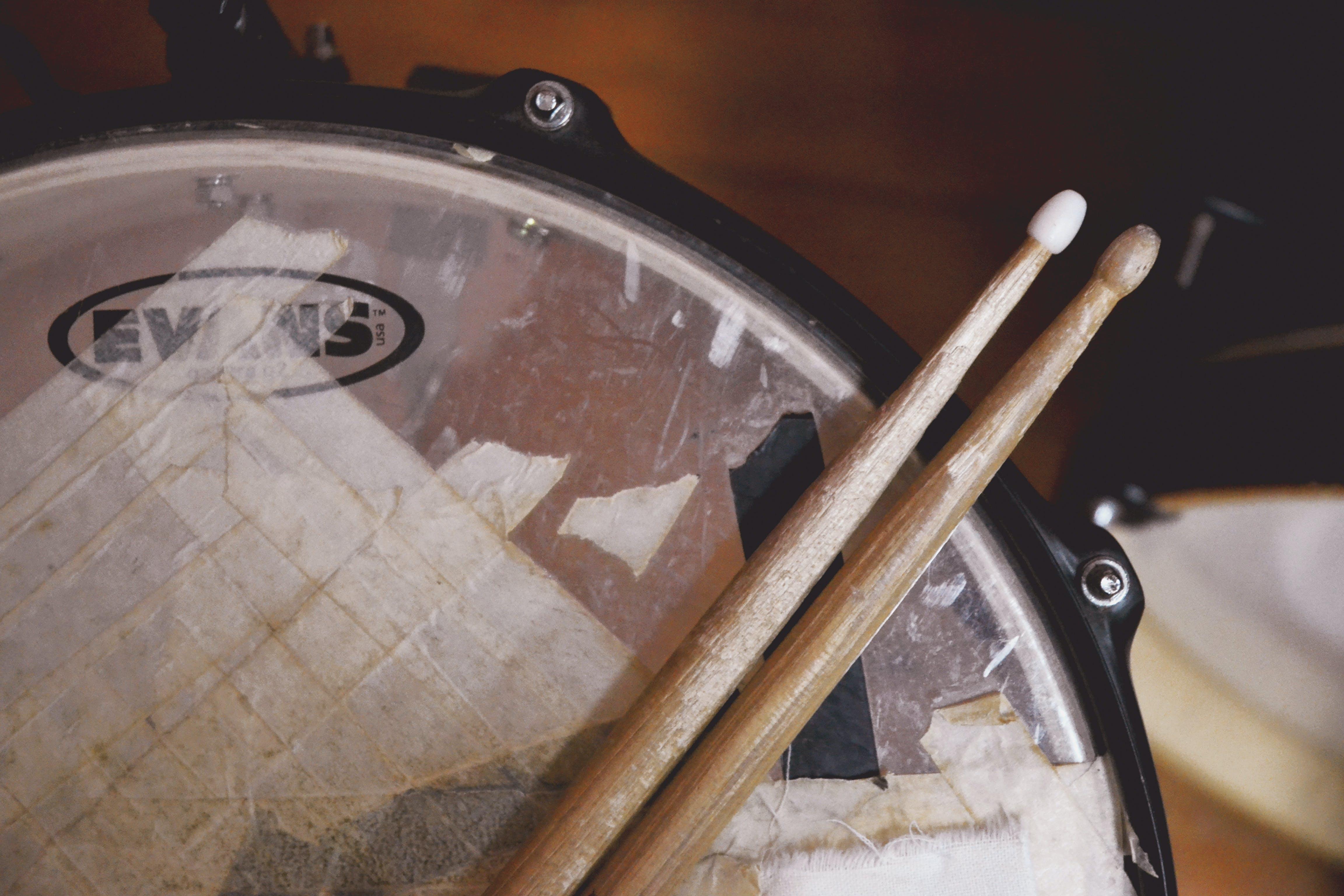 Drum Stick on Drum Top
