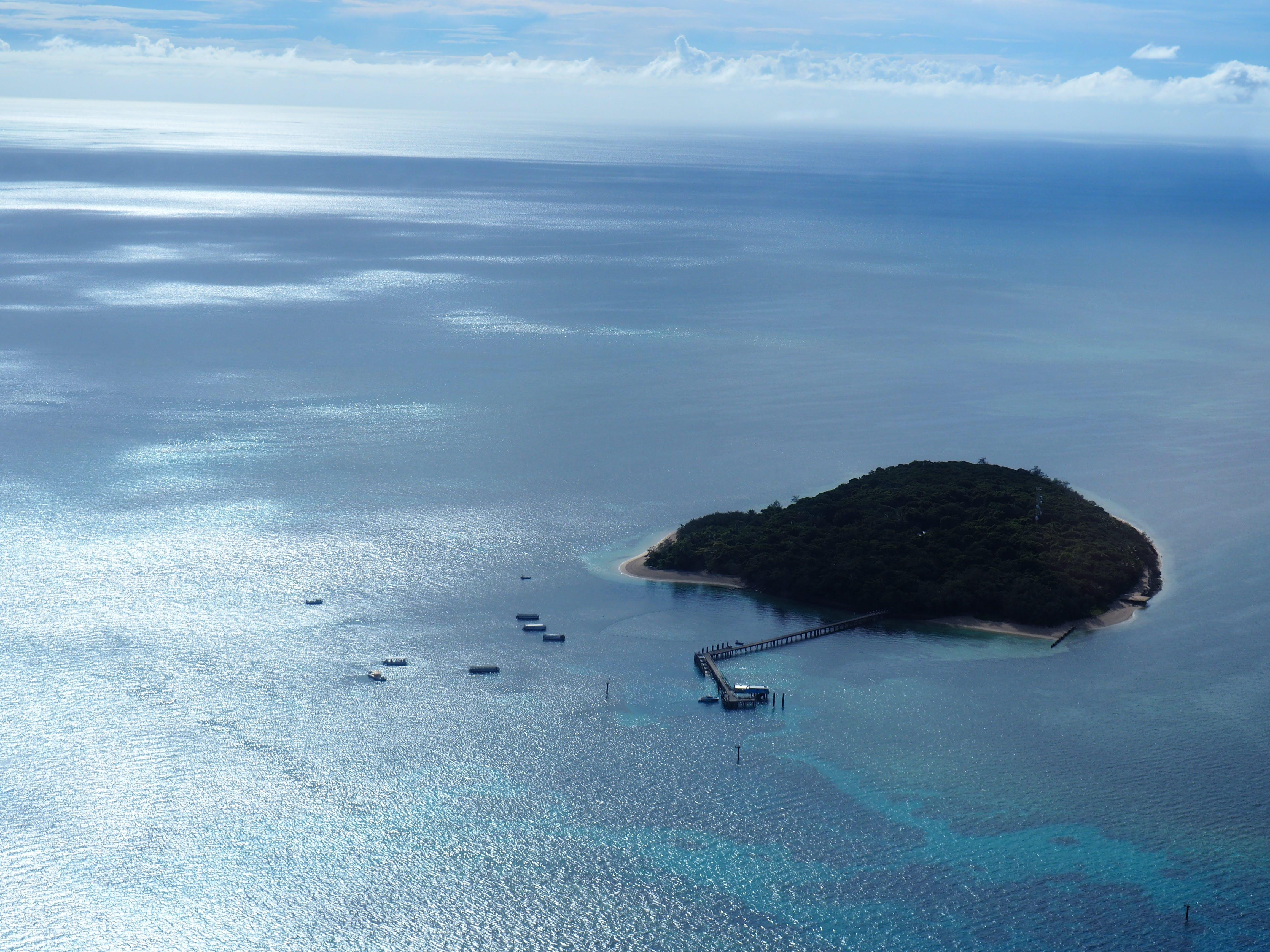 Gratis lagerfoto af blå, blåt vand, ferie, fugleperspektiv