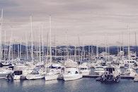 jetty, sea, mountains