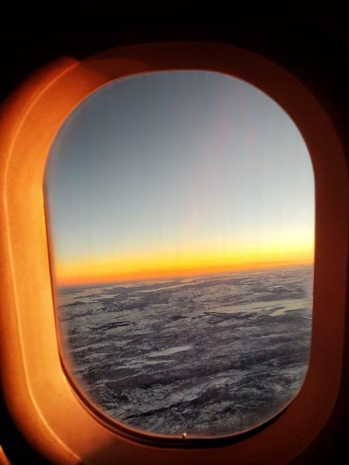 Immagine gratuita di aeroplano, alba, volo