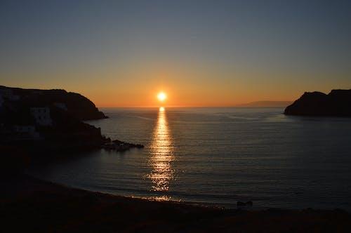 ege denizi, gün batımı, patmos, Yunanistan içeren Ücretsiz stok fotoğraf