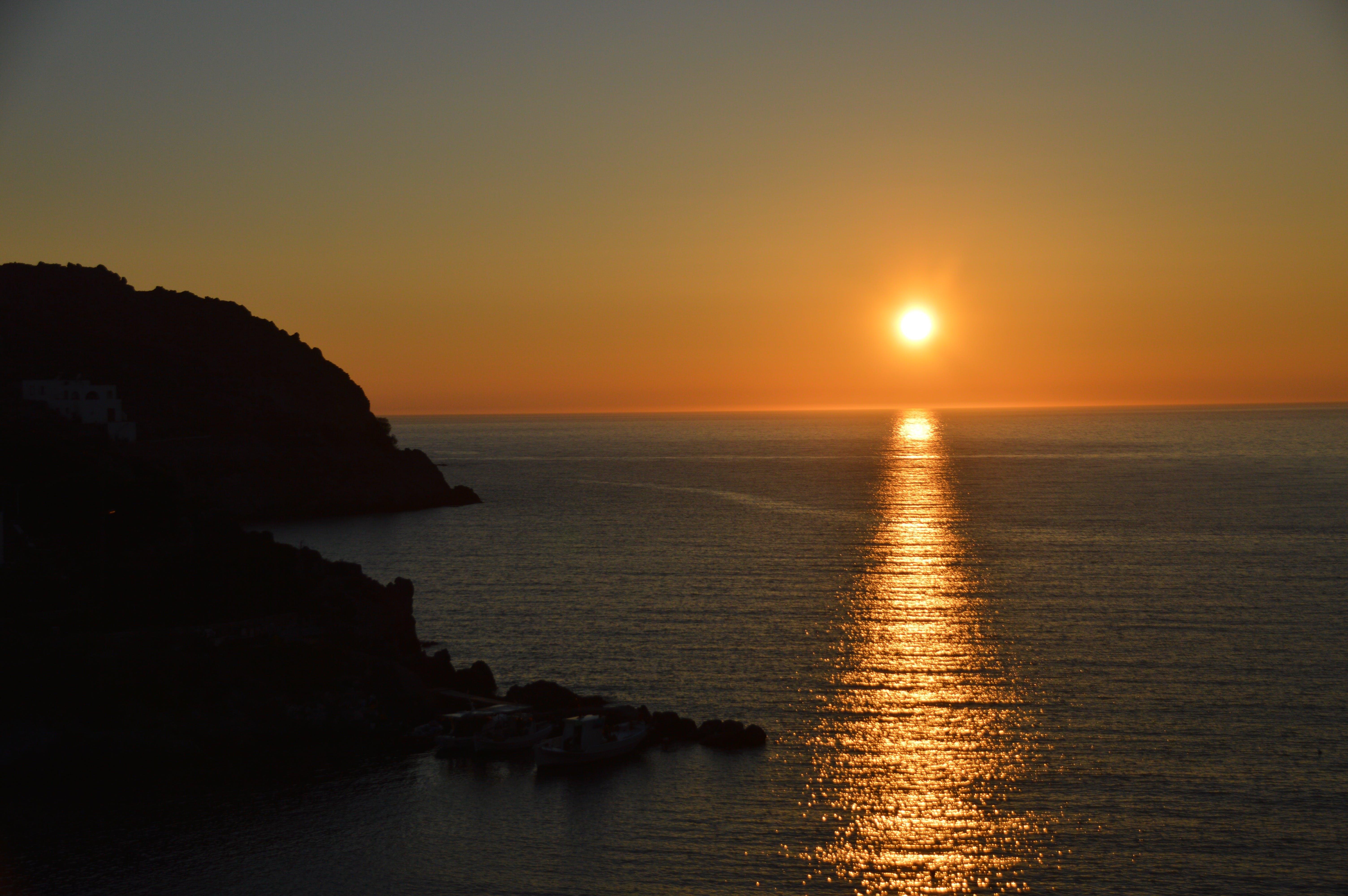 Free stock photo of aegean sea, greece, Patmos, sunset