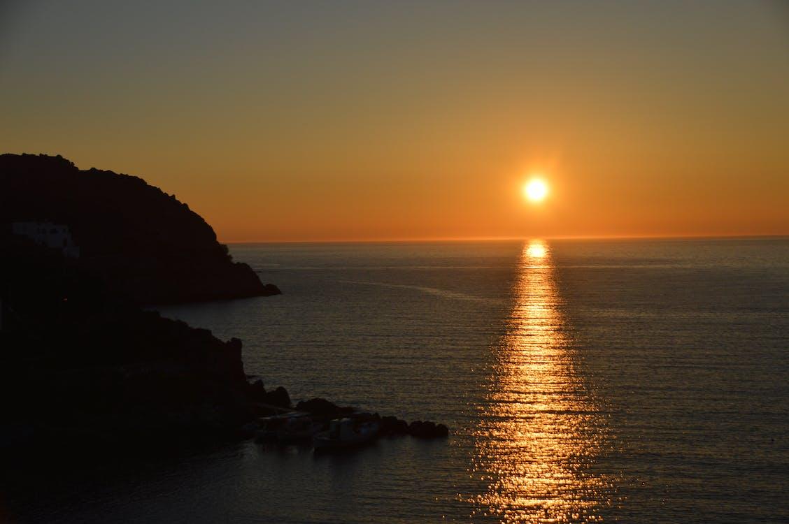 希臘, 帕特莫斯, 日落 的 免费素材图片