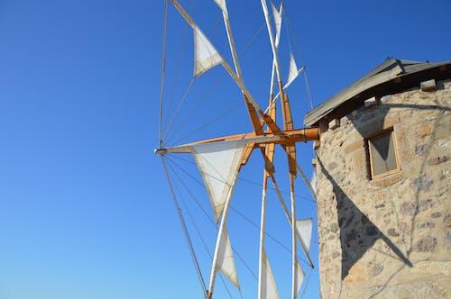 ege denizi, patmos, yel değirmenleri, Yunanistan içeren Ücretsiz stok fotoğraf