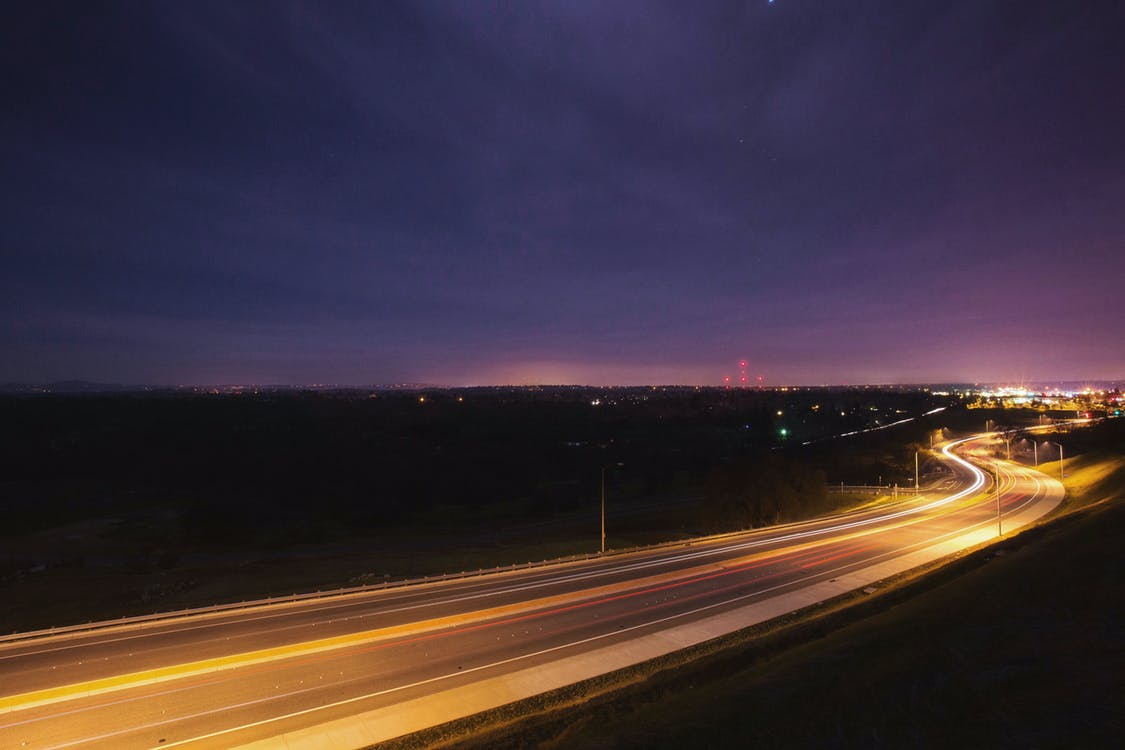 Time Lapse Photography of Vehicles on Highway