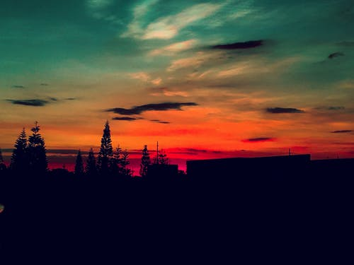 Free stock photo of golden sun, red sky, sunset
