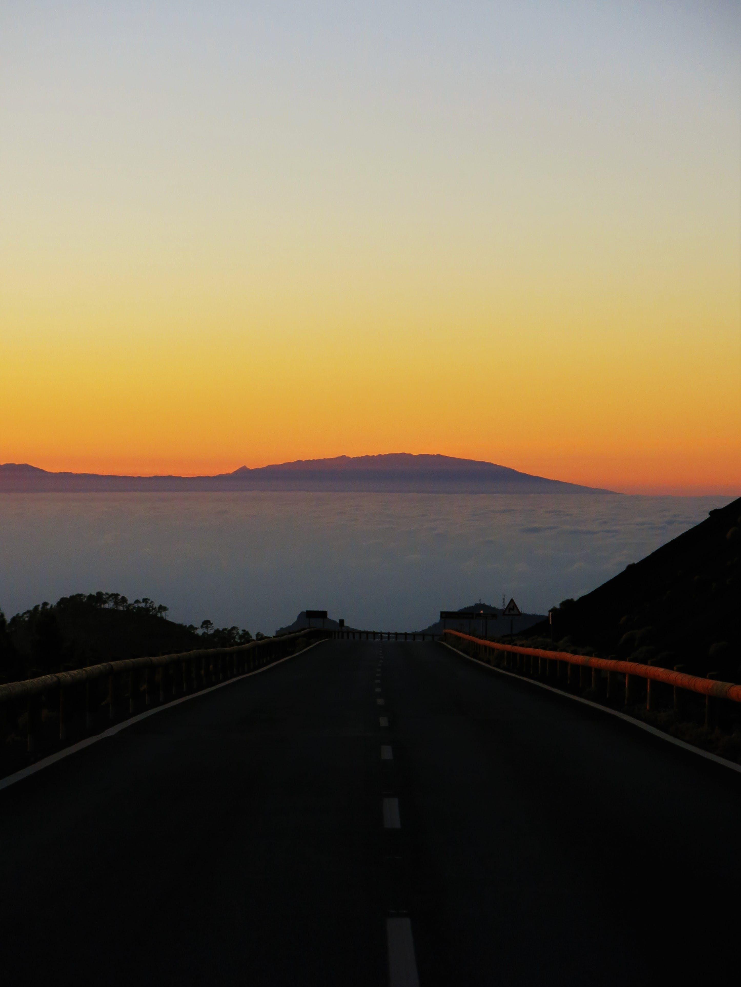 Black and White Asphalt Road