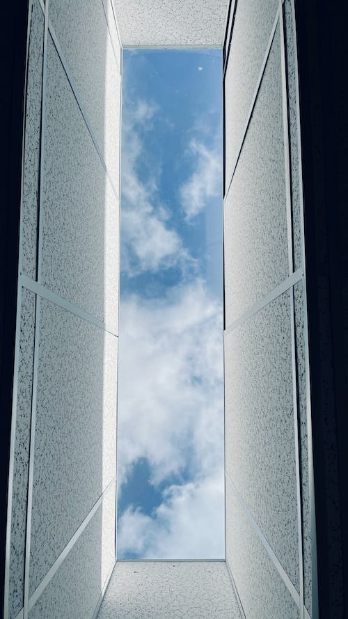 Free stock photo of blue sky, tunnel