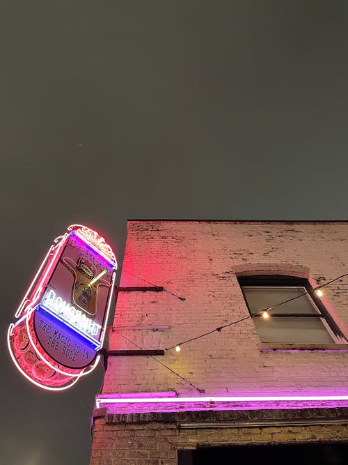 Free stock photo of donuts, neon