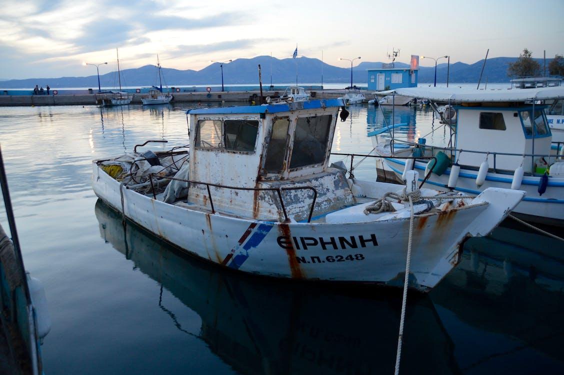 Free stock photo of fishing boat, greece, kalamos