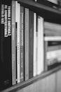 black-and-white, books, school