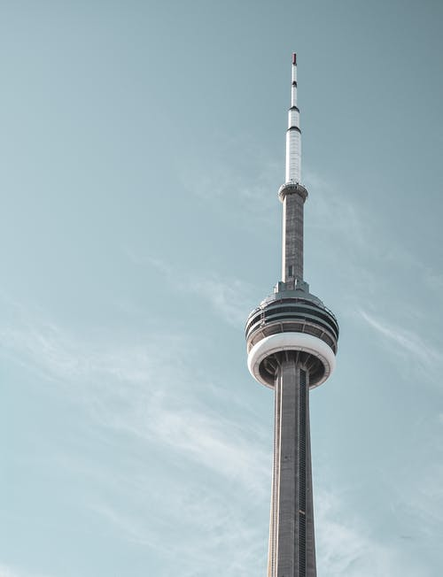 Low-Angle Shot of CN Tower