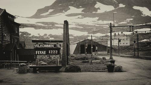 かすんでいる, タウン, ぼんやりした, モノクロームの無料の写真素材