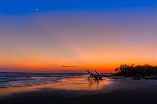 Δωρεάν στοκ φωτογραφιών με ακτή, άμμος, αντανακλάσεις, απόγευμα