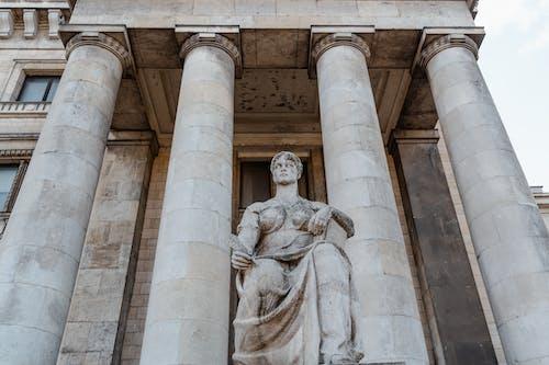 Concrete Statue of Man