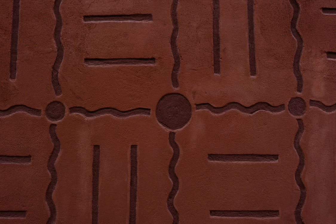Brown Wall With Design