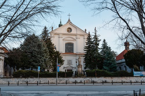Historic Cathedral Along The Road
