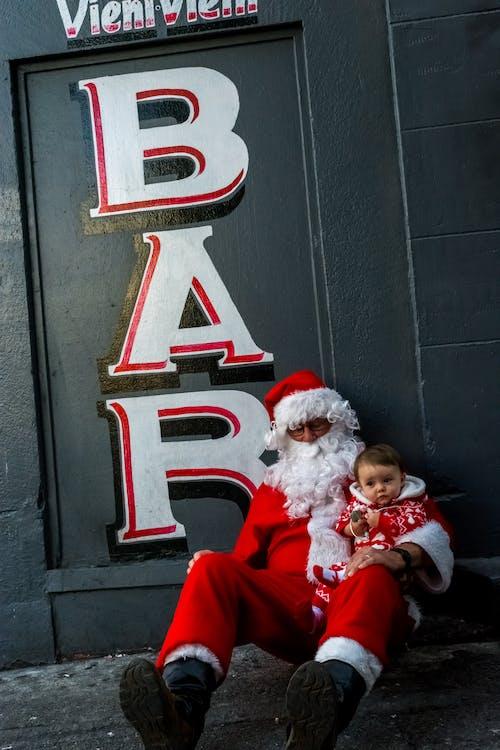 santacon, 寶寶, 條, 聖誕 的 免费素材照片