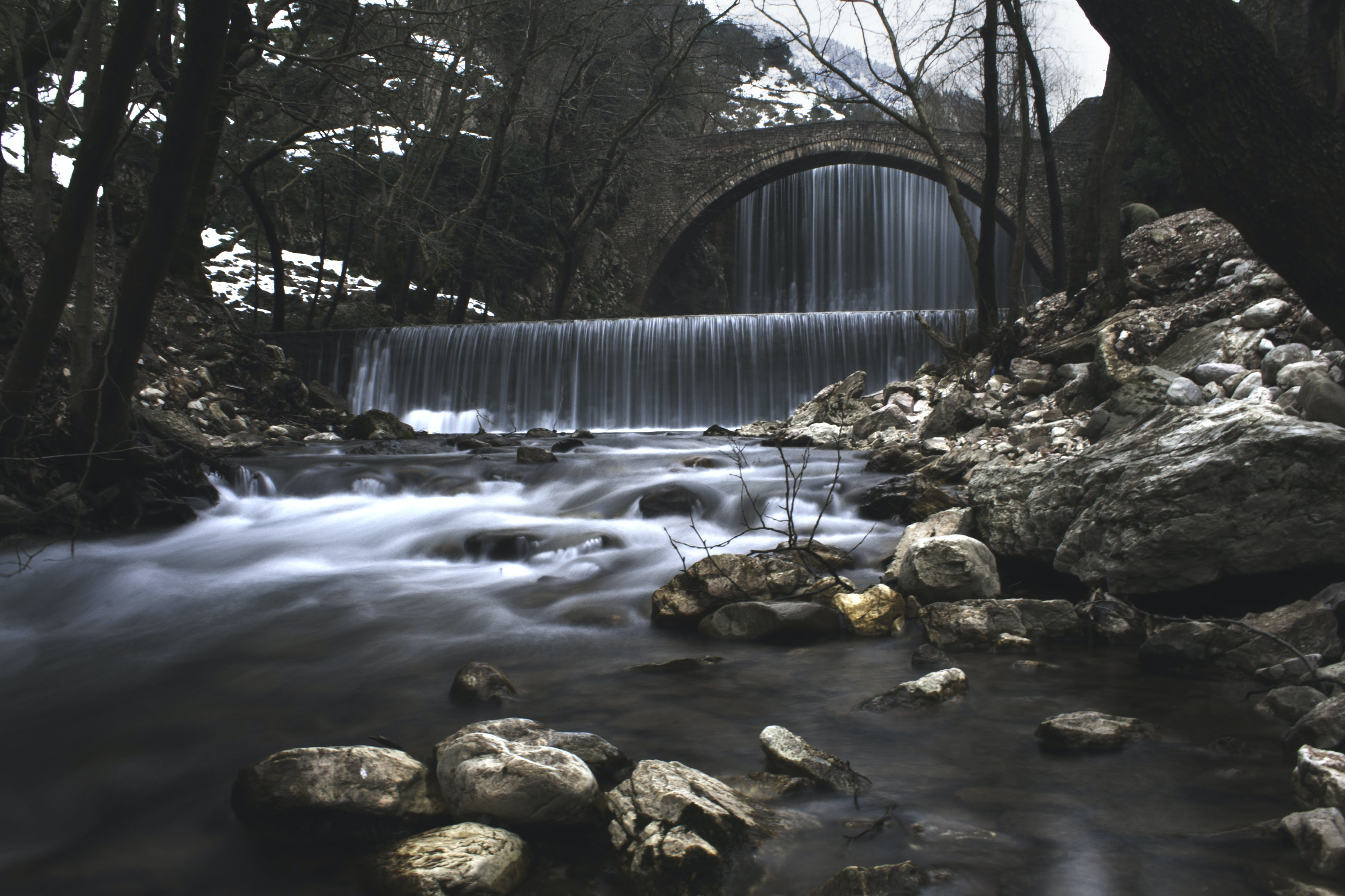 Time Lapse Photography of Waterfall