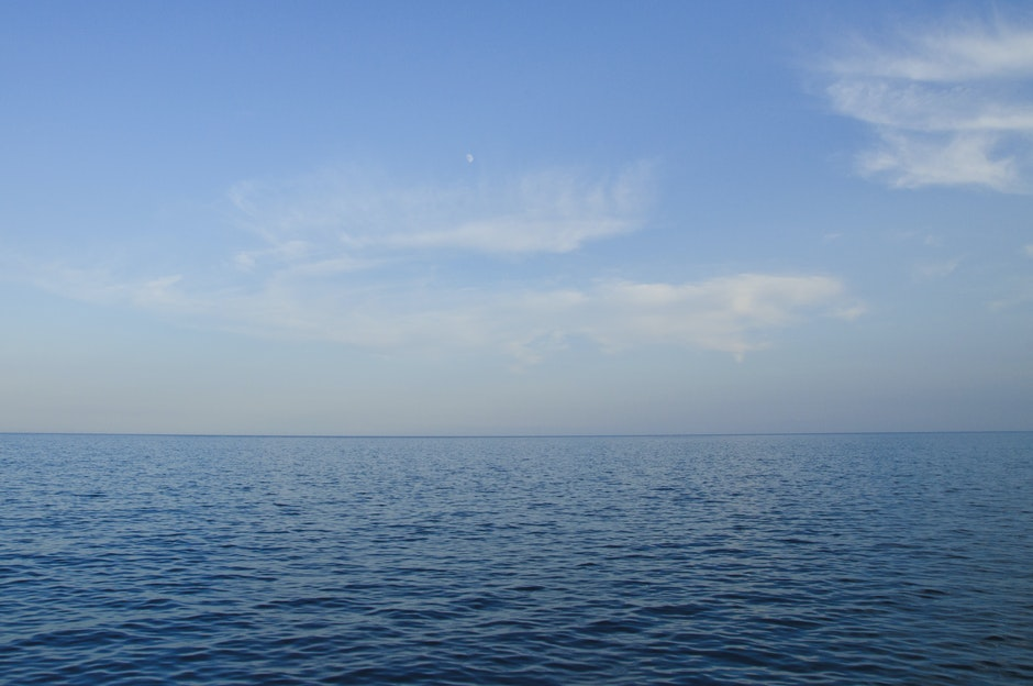 horizon, ocean, salt water