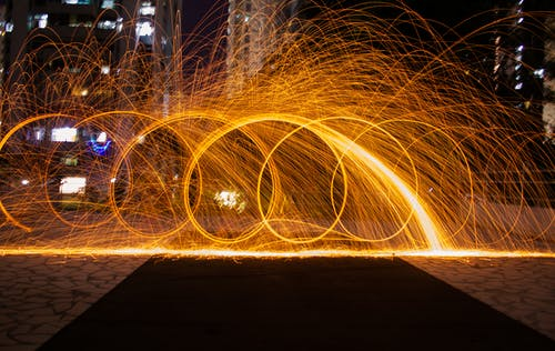 Time-lapsed Photography of Fire Crackers
