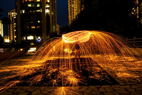 Photography of Water Fountain during Nighttime