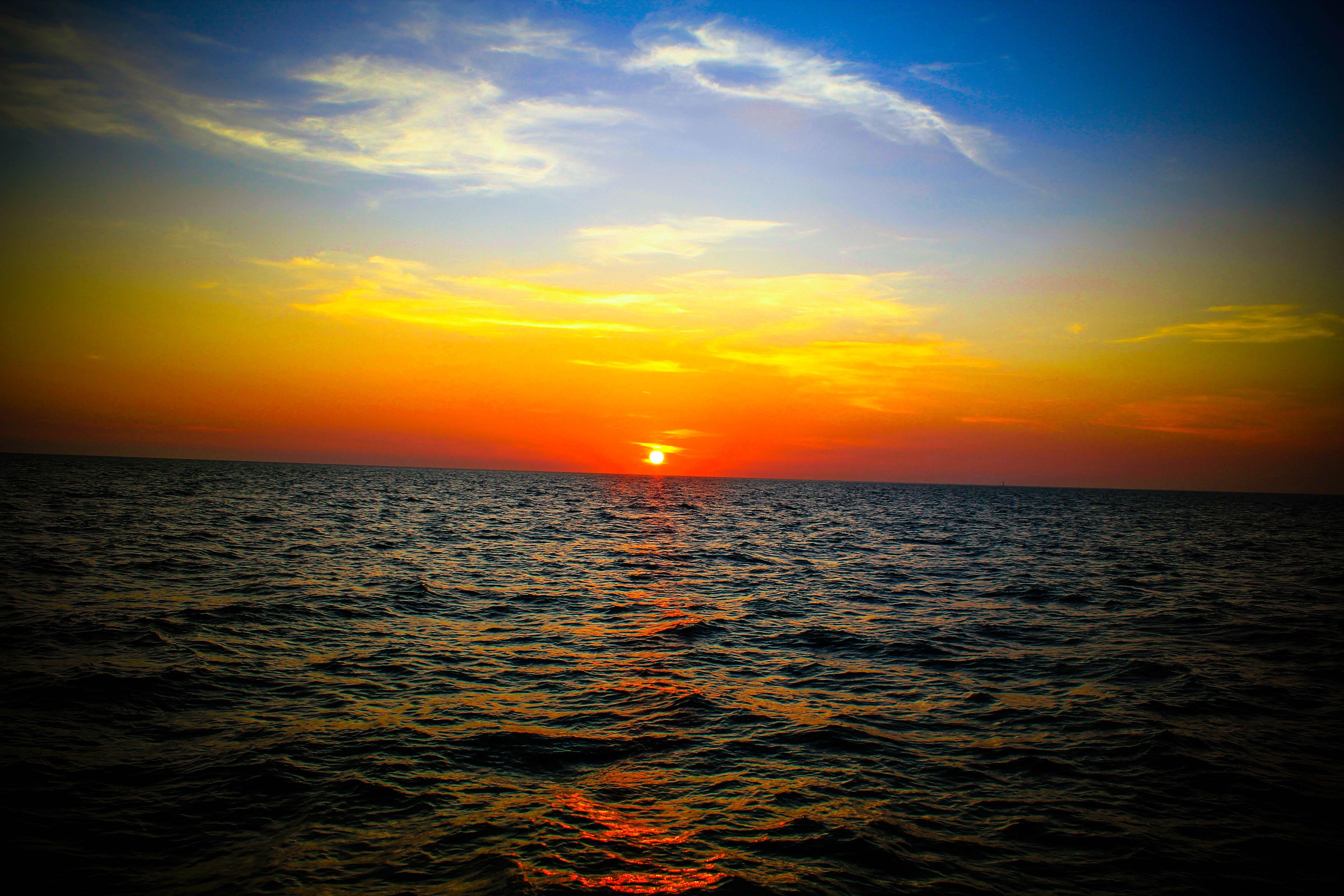 Golden Hour Ocean Photo