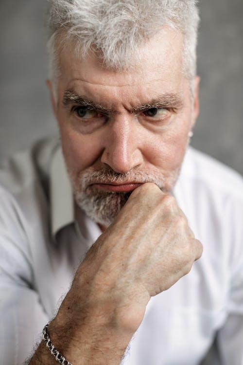 Close-Up Photo of an Elderly Man