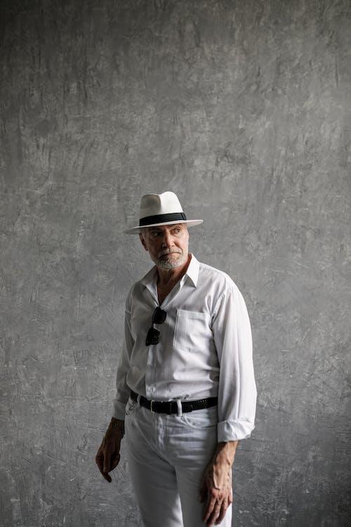 Elderly Man Posing for the Camera