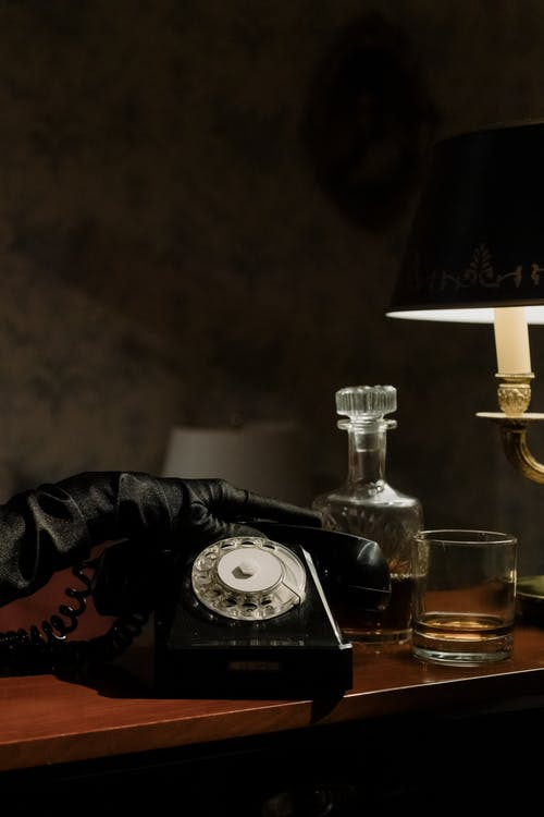 Photo of Vintage Telephone on Top of Counter
