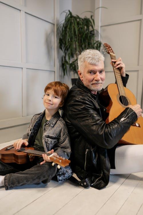 休閒, 兒童, 原聲吉他 的 免费素材图片