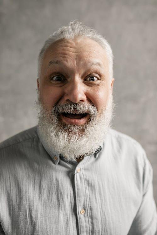 Elderly Man Looking Surprised