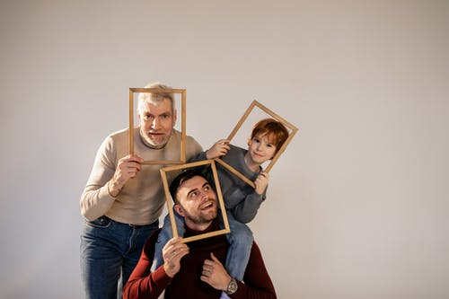 A Family Having Fun with Frames