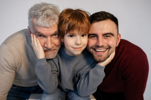 Free stock photo of affection, child, dad