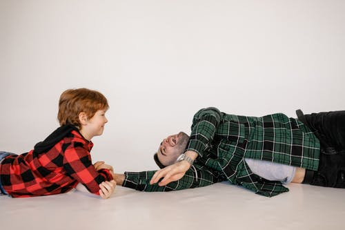 A Father Playing with His Son