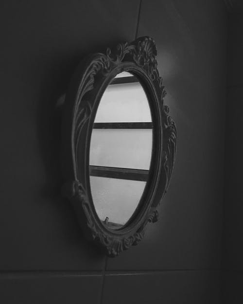 Oval Mirror With Black Frame