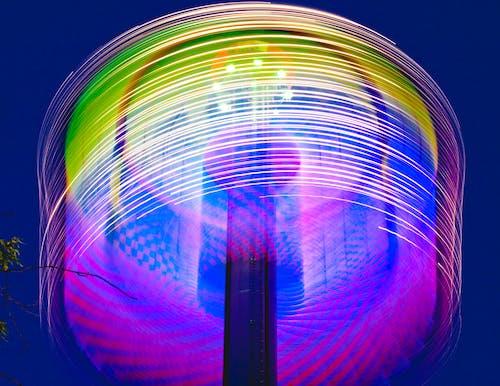 Free stock photo of amusement park, blur, dark