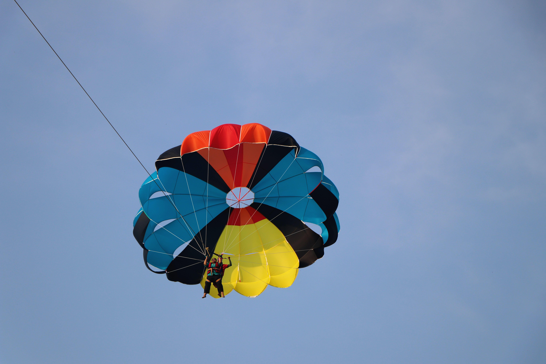 Free stock photo of #parasailor #sailing #inair #air #colorful #fly