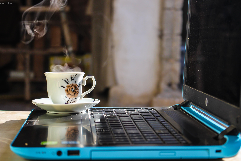 Free stock photo of black coffee, coffee, coffee bean, computer