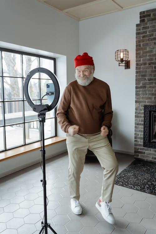 Man Dancing in the Living Room
