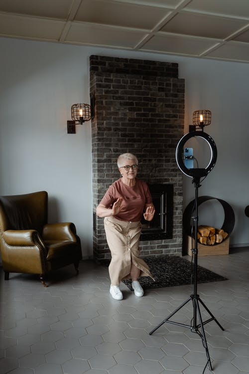 Woman Dancing in the Middle of a Living Room