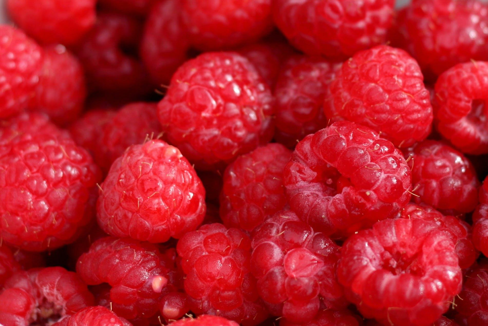 essen, früchte, himbeeren