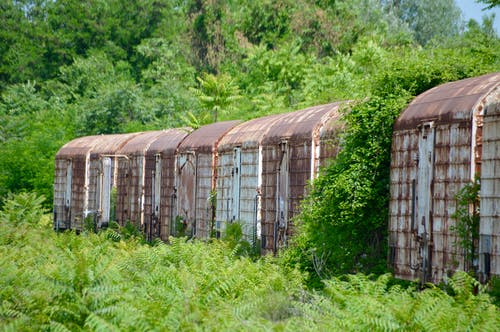 Free stock photo of Deserted train wagons, greece