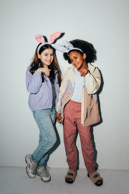 Girls Wearing Bunny Ears