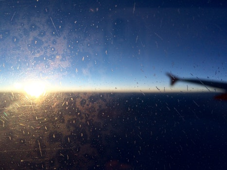 Kostenloses Stock Foto zu himmel, flugzeug, hublot