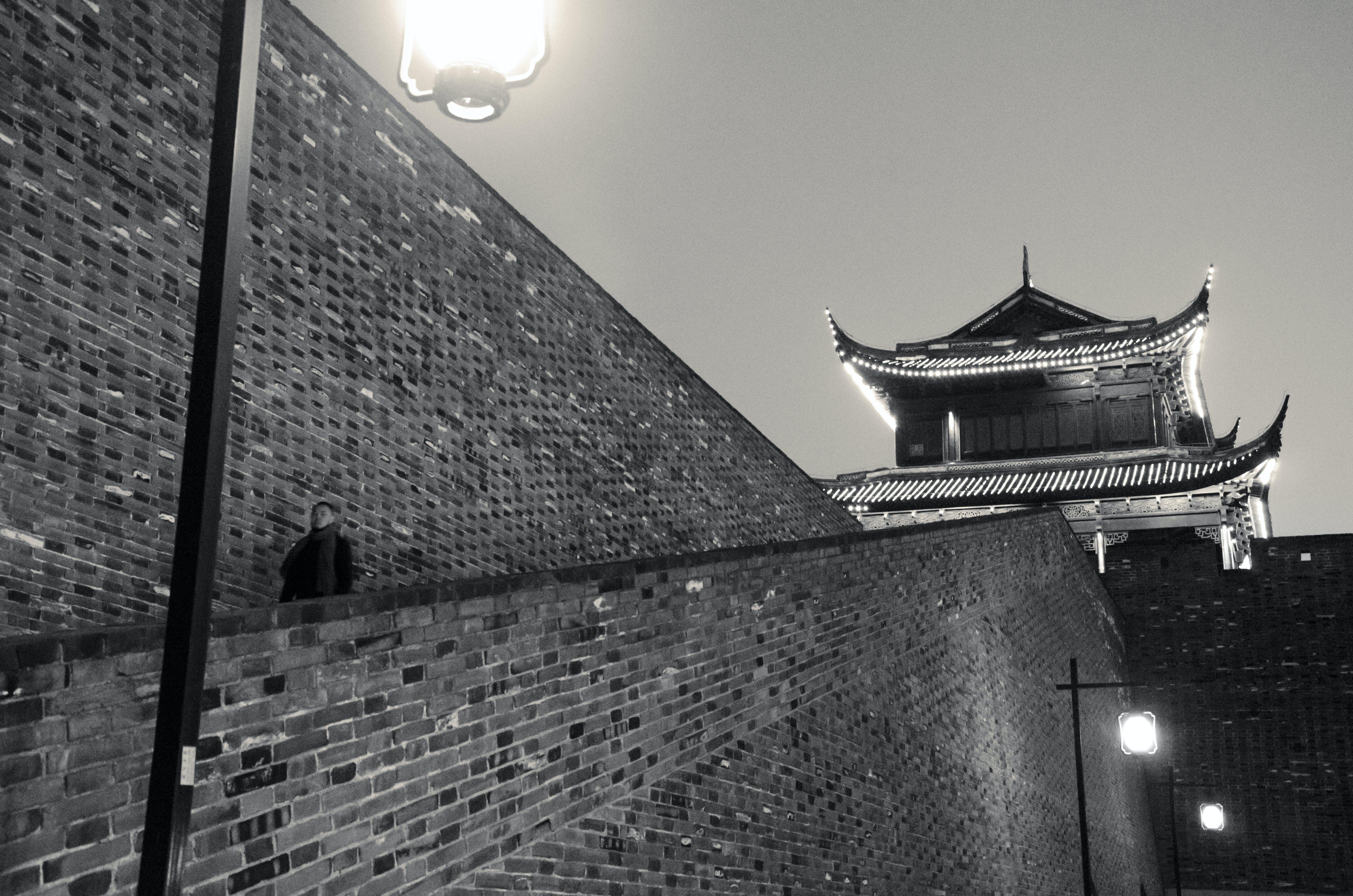 Free stock photo of bw, china, suzhou, walls