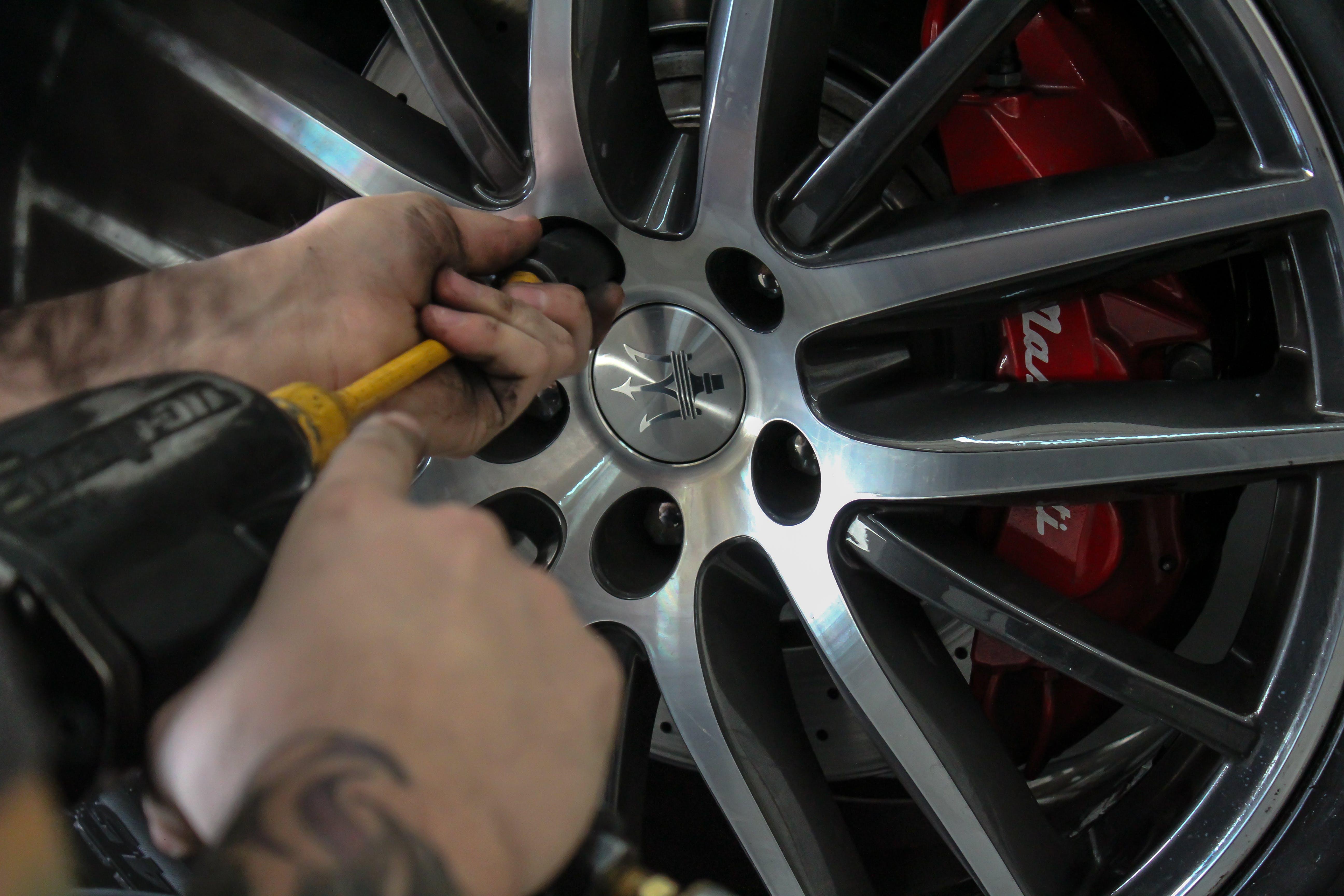 Free stock photo of auto, brake, car repair, power tools