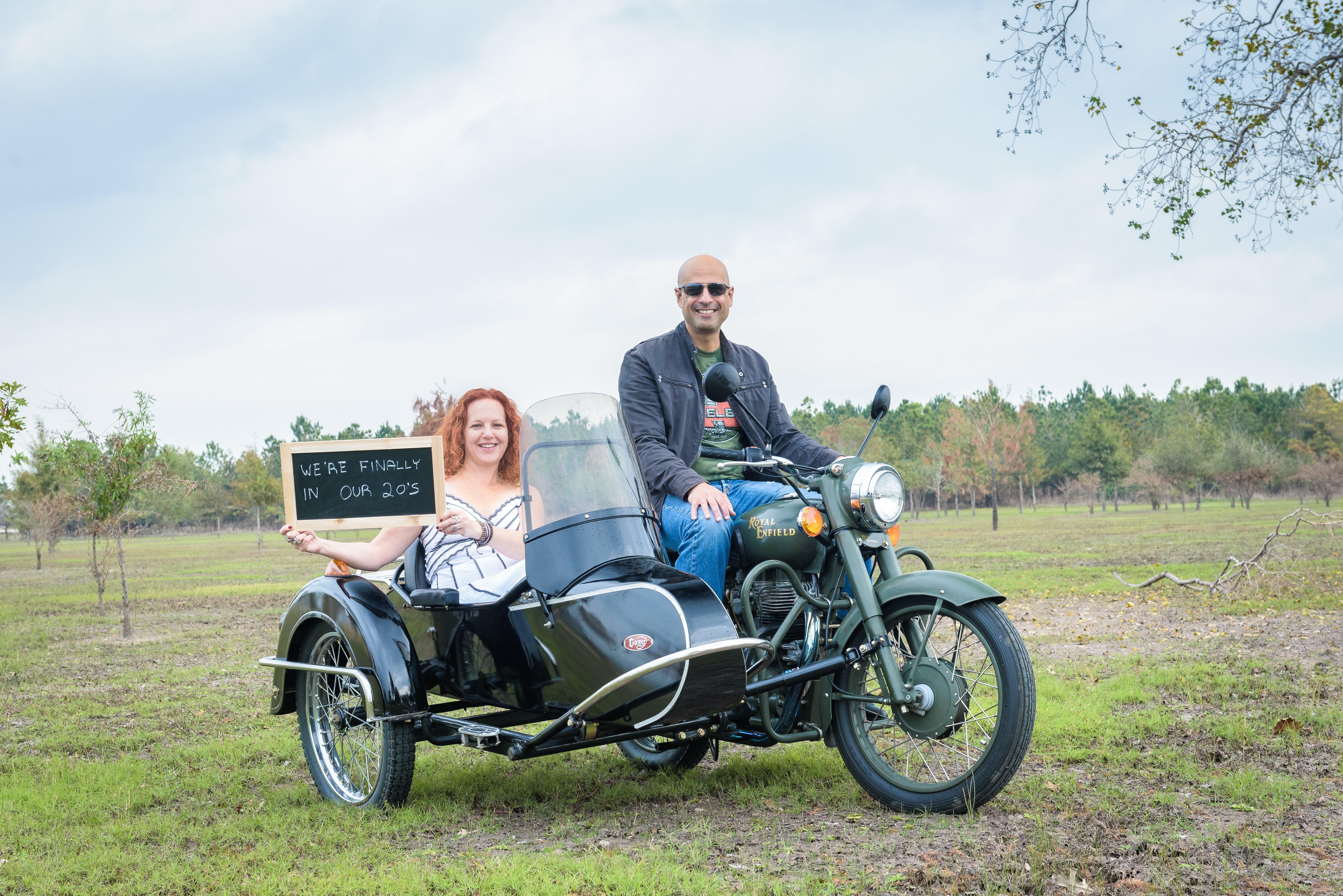 Kostenloses Stock Foto zu beiwagen, jahrestag, motorrad