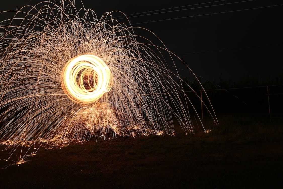 Základová fotografie zdarma na téma dlouhodobá expozice, noc, ocelová vlna
