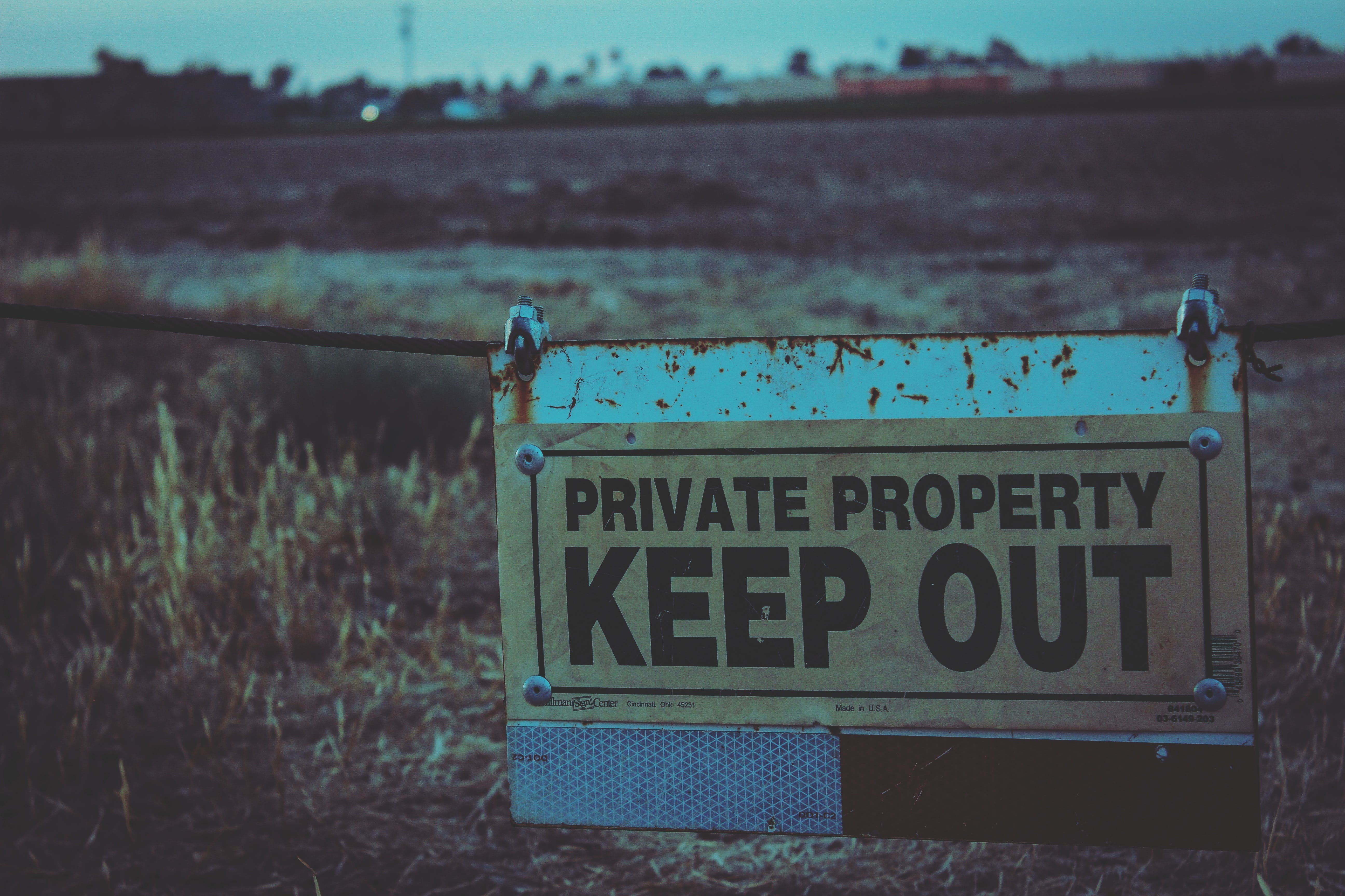 Private Property Keep Out Signboard